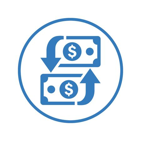 Finance, transaction, money transfer icon for any use like print media, web, stock images, commercial use or any kind of design project. Çizim