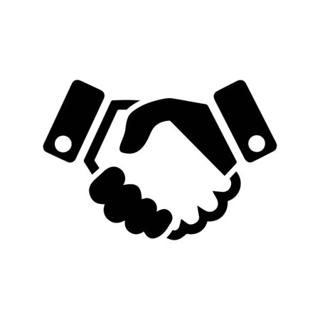 Agreement business deal or handshake icon. Use for commercial, print media, web or any type of design projects.