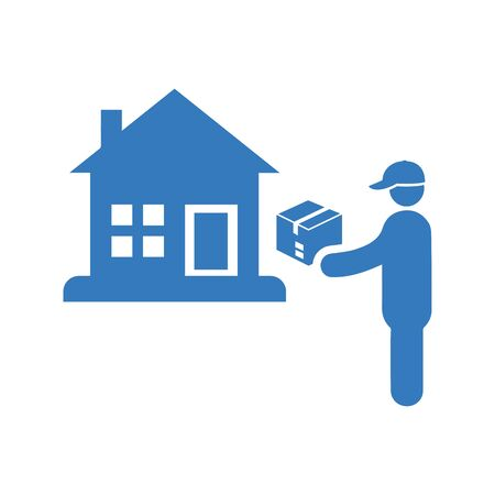 Home delivery icon, Courier service. Use for commercial, print media, web or any kind of design projects.