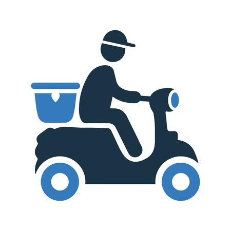 Delivery man icon. Beautiful, meticulously designed icon. Well organized and editable Vector for any uses.