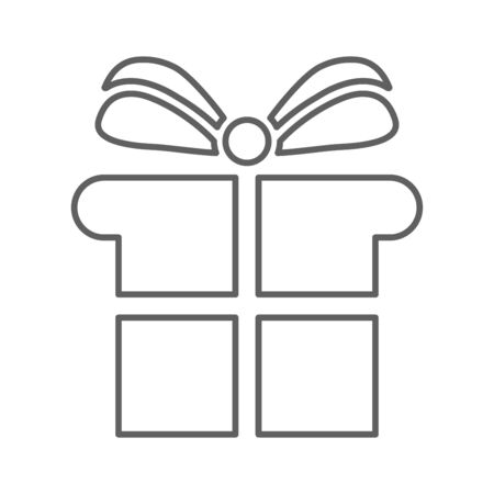 Gift box icon, gift package, surprise . Beautiful design and fully editable vector for commercial, print media, web or any type of design projects. Vettoriali