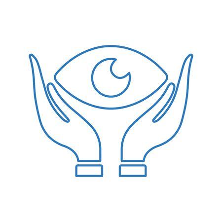 Eye care, eyesight, ophthalmology icon. Beautiful, meticulously designed icon. Well organized and editable Vector for any uses. Vektoros illusztráció
