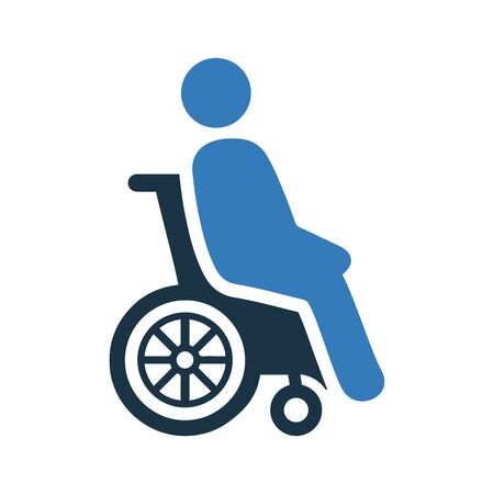Disability, disabled, wheelchair icon. Use for commercial, print media, web or any type of design projects. Stock Illustratie