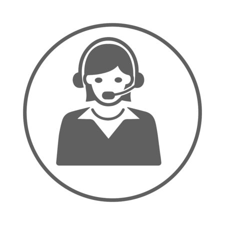 Customer Service Icon, call center. Beautiful design and fully editable vector for commercial, print media, web or any type of design projects.
