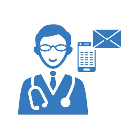 Ask a doctor icon'. Beautiful design and fully editable vector for commercial, print media, web or any type of design projects.