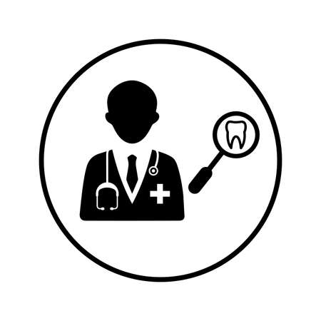 Female doctor icon, vector graphics for various use.