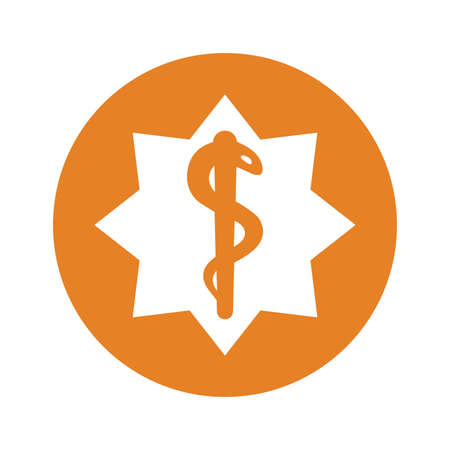 Star Of Life icon, vector graphics for various use.
