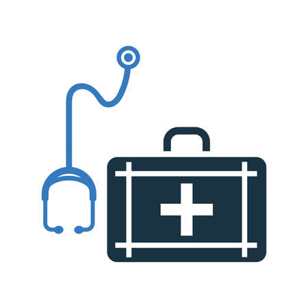 Doctor bag with stethoscope icon / vector graphics. Beautiful design and fully editable vector for commercial, print media, web or any type of design projects.