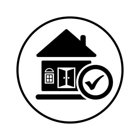 Apartment, house, property icon, vector graphics for various use.