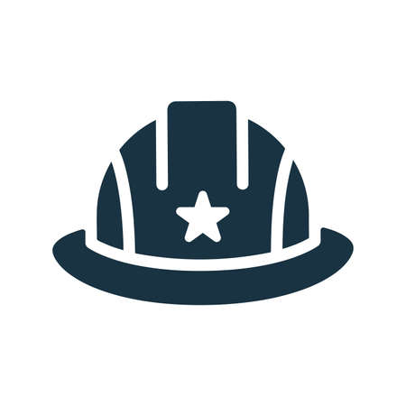 Construction helmet icon. Perfect use for print media, web, stock images, commercial use or any kind of design project.