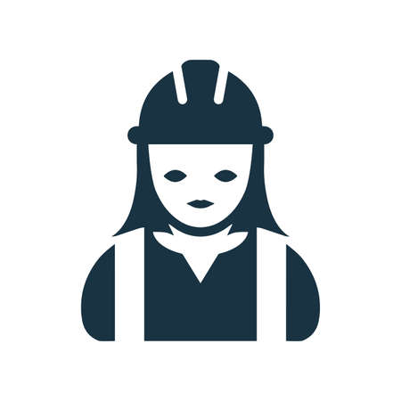 Builder, contractor , worker icon. Use for commercial, print media, web or any type of design projects.