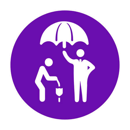 Old man, life insurance icon. Creative element design use in designing and developing websites, commercial, print media, web or any type of design projects.