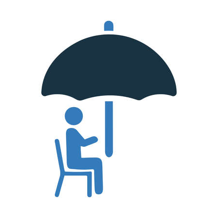 Retirement, insurance icon. Creative element design use in designing and developing websites, commercial, print media, web or any type of design projects. 矢量图像