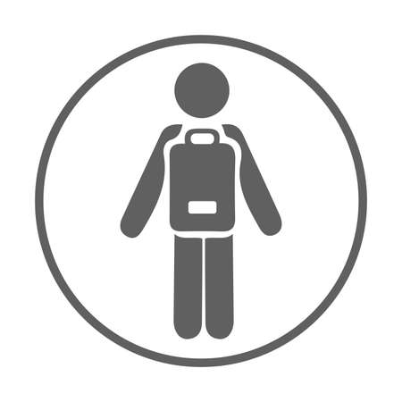 School going child icon. Beautiful design and fully editable vector for commercial, print media, web or any type of design projects.