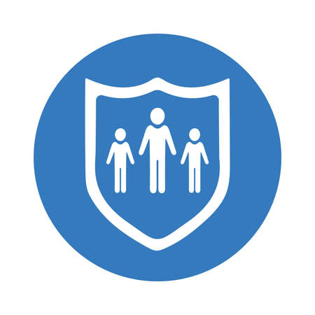 Family, life insurance icon. Use for commercial, print media, web or any type of design projects. 矢量图像