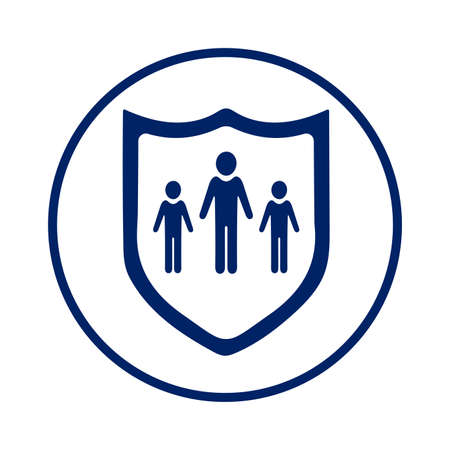 Family, life insurance icon. Use for commercial, print media, web or any type of design projects. Vettoriali
