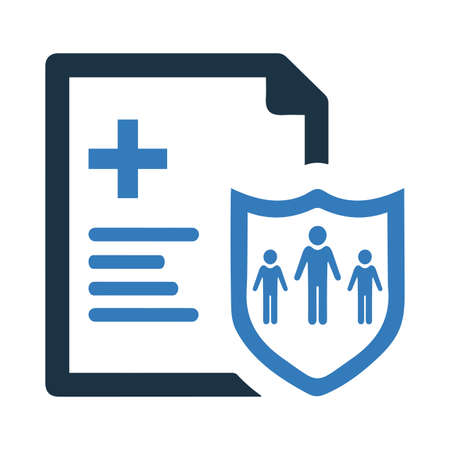 Medical insurance icon. Beautiful, meticulously designed icon. Well organized and editable Vector for any uses. 矢量图像