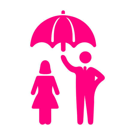 Women safety, Insurance icon. Creative element design use in designing and developing websites, commercial, print media, web or any type of design projects.