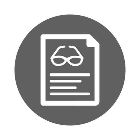 Reading eyeglass icon. Perfect use for print media, web, stock images, commercial use or any kind of design project.
