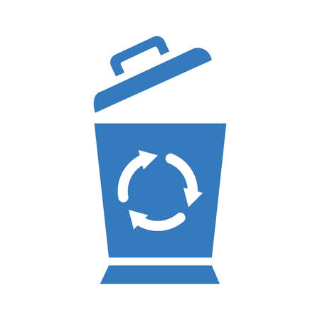 Recycle bin icon. Perfect use for print media, web, stock images, commercial use or any kind of design project.
