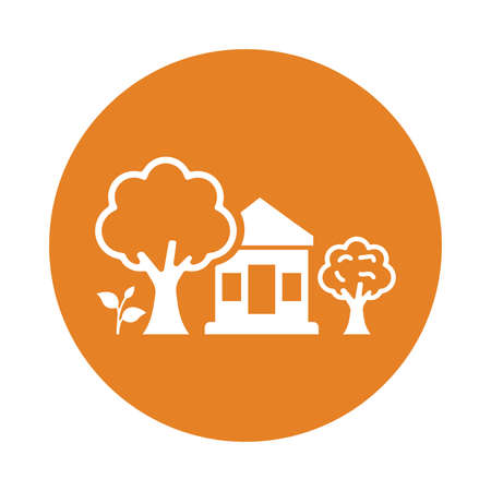 Ecology, green tree house icon. Use for commercial, print media, web or any type of design projects.