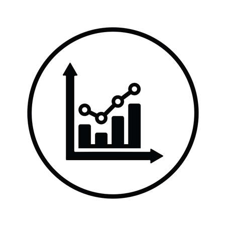 Analytics, chart, graph icon isolated on white background. Simple vector illustration for graphic and web design.