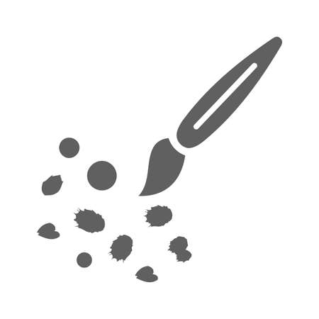 Art, paintbrush icon isolated on white background. Simple vector illustration for graphic and web design.