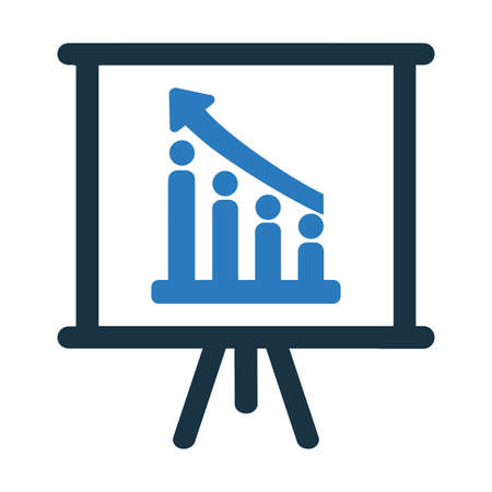 Chart, graph icon isolated on white background. Simple vector illustration for graphic and web design.