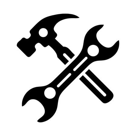 Hammer, wrench, screw driver, Maintenance tools icon. Perfect for use in designing and developing websites, printed files and presentations, stock images, Promotional Materials, Illustrations or Infographic or any type of design projects.