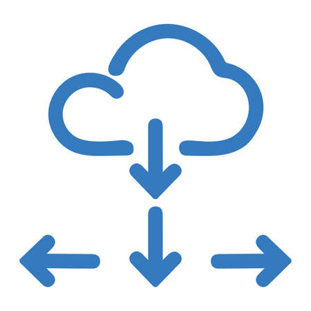 Cloud, computing, networking icon. Beautiful design and fully editable vector for commercial, print media, web or any type of design projects. Ilustracja