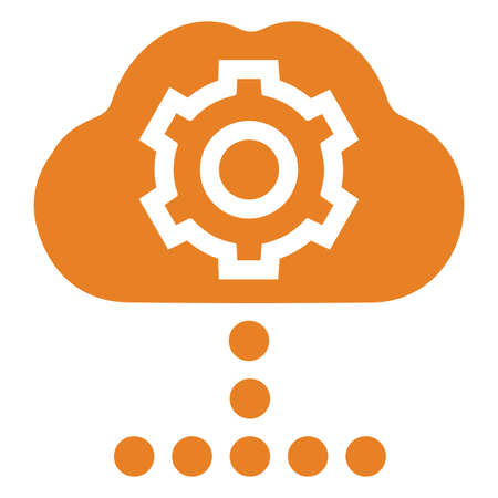 Cloud settings icon. Beautiful design and fully editable vector for commercial, print media, web or any type of design projects. Ilustracja