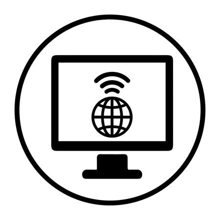 Browsing, global, internet icon isolated on white background. Simple vector illustration for graphic and web design. Ilustracja