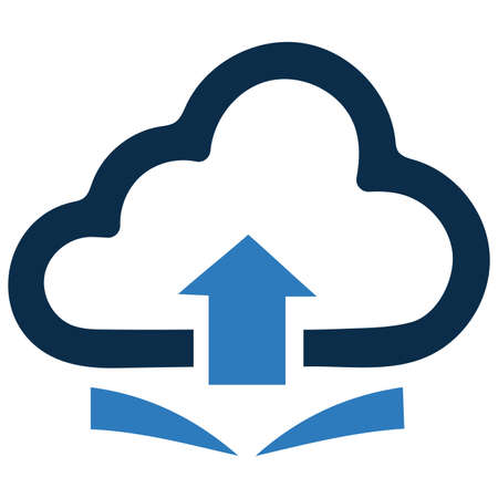 Cloud upload icon isolated on white background. Simple vector illustration for graphic and web design. Ilustracja