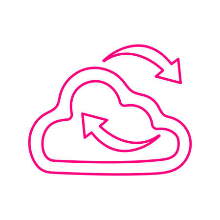 Cloud synchronization icon. Beautiful design and fully editable vector for commercial, print media, web or any type of design projects.