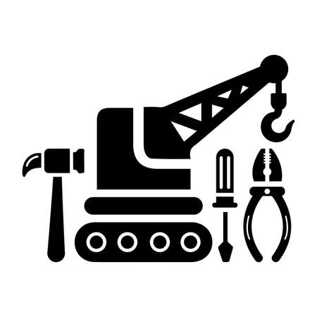 Maintenance, construction work icon - Vector EPS file. Perfect use for print media, web, stock images, commercial use or any kind of design project.