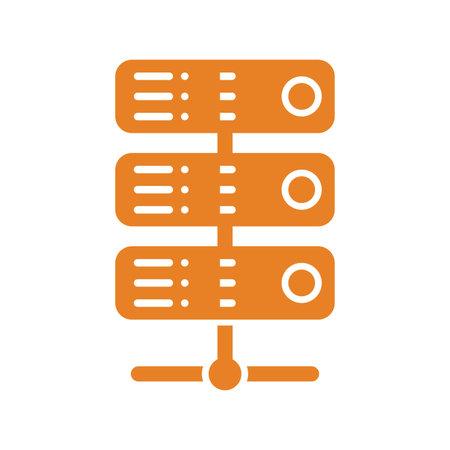 Database, hosting, server icon. Well organized simple vector illustration.