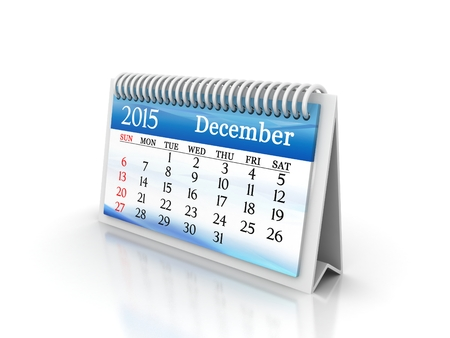 2015 december calendar design with color lcd display