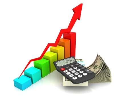Business finance, tax, accounting, statistics and analytic research concept