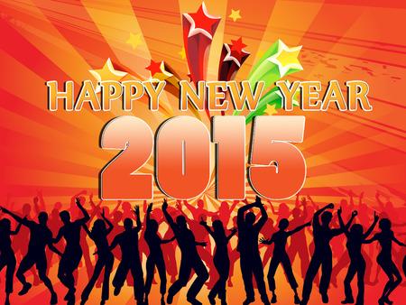 year        s: fuochi d'artificio a capodanno 2015 Archivio Fotografico
