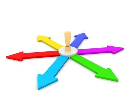 Arrows in a circle flow - 3d render illustration Stock Photo
