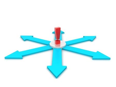 Arrows in a circle flow - 3d render illustration illustration