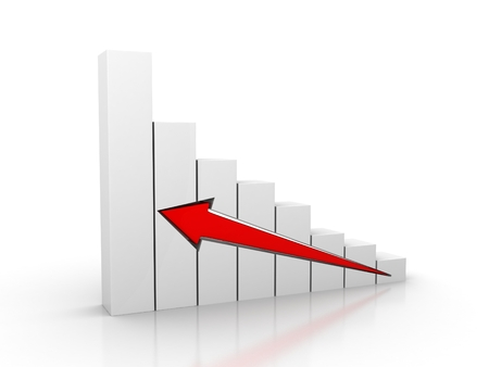 he arrow of the diagram shows growth and success 3d render illustration Stock Photo