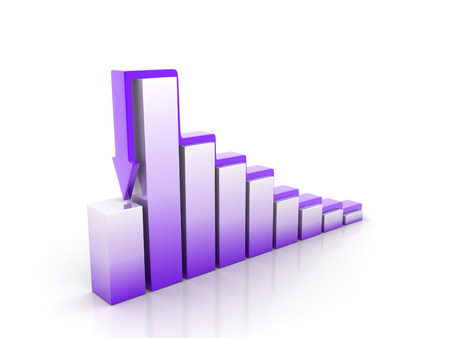 3d rendering of the growth chart on white surface Stock Photo