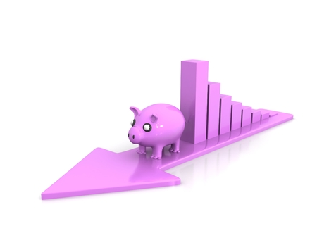 3d pigs climb business arrow