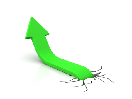 Business Graph, 3d rendered conceptual arrow chart Stock Photo