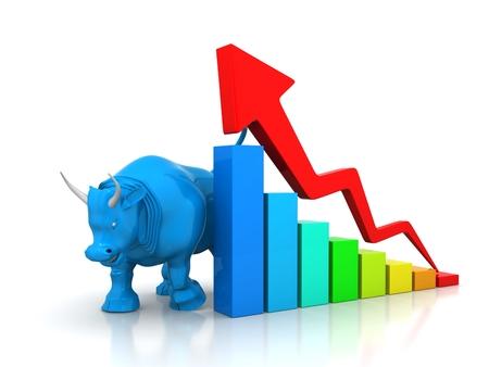 wall street bull: Business market graph