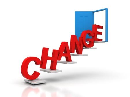 change conceptual door Stock Photo