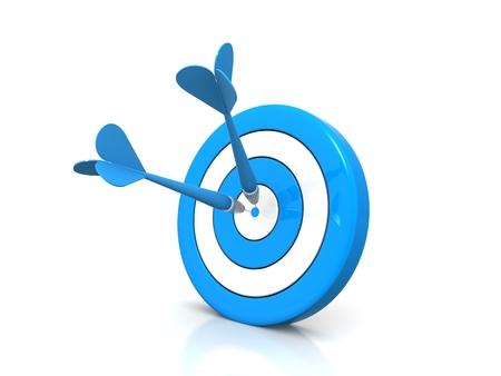 Business Success Concept - dart hitting target photo