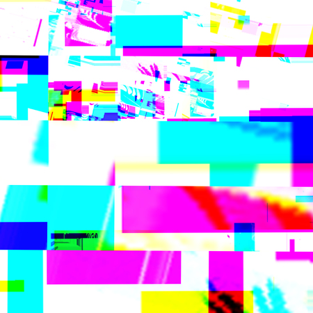 Abstract chemical glitching effect. Random digital signal error. Abstract colorful background. Element of design for a trendy poster, music cover, business card, invitation or postcard, label template background.