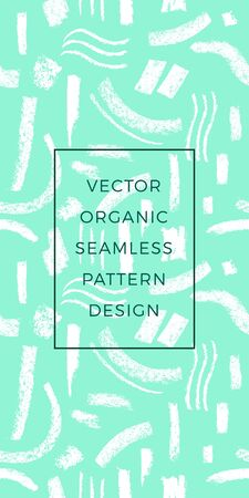 Organic seamless pattern with Abstract organic background for natural food label. Environment nature texture for Eco-friendly design, eco banner template, modern green thinking concept.